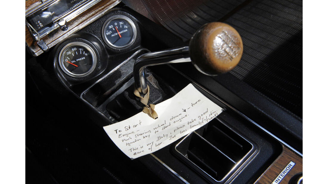 Shelby Mustang GT 500, Baujahr 1969, Ganghebel