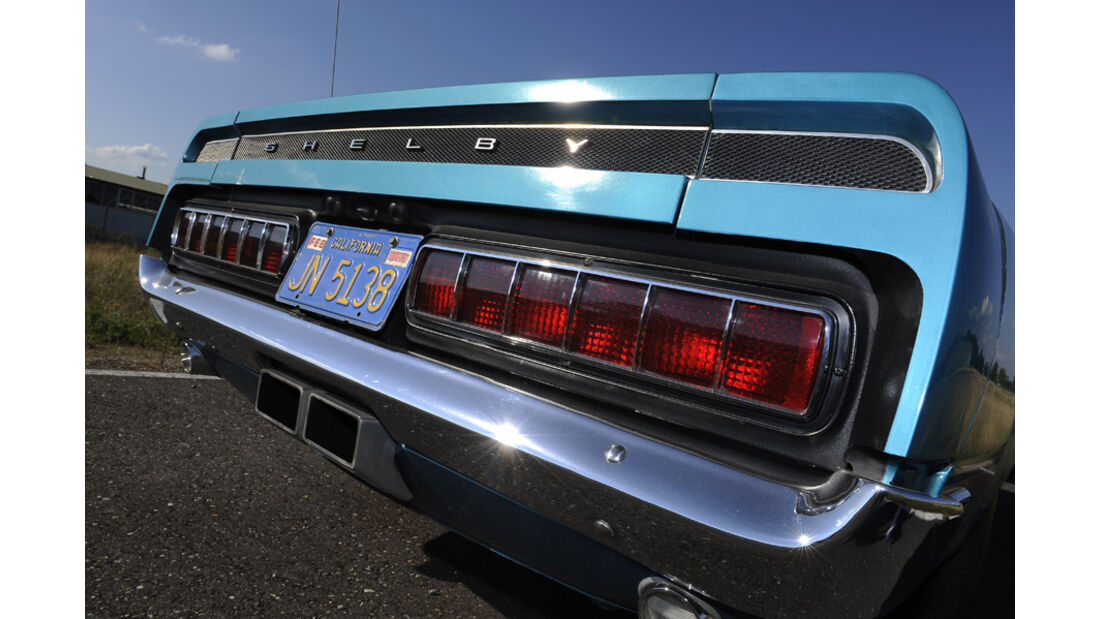 Shelby Mustang GT 500, Baujahr 1969, Heck