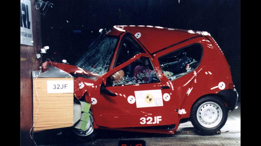 Sicherheitstechnik, Crashtest, Fiat Seicento