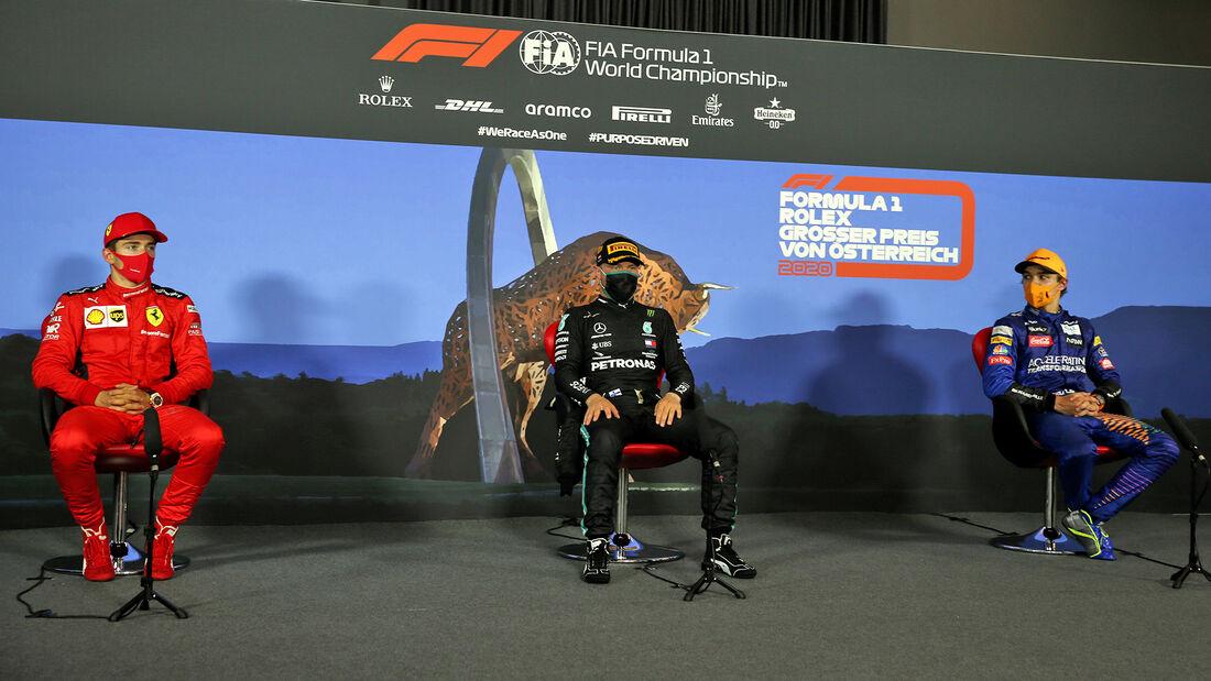 Sieger-Pressekonferenz - Formel 1 - GP Österreich - Spielberg - 5. Juli 2020