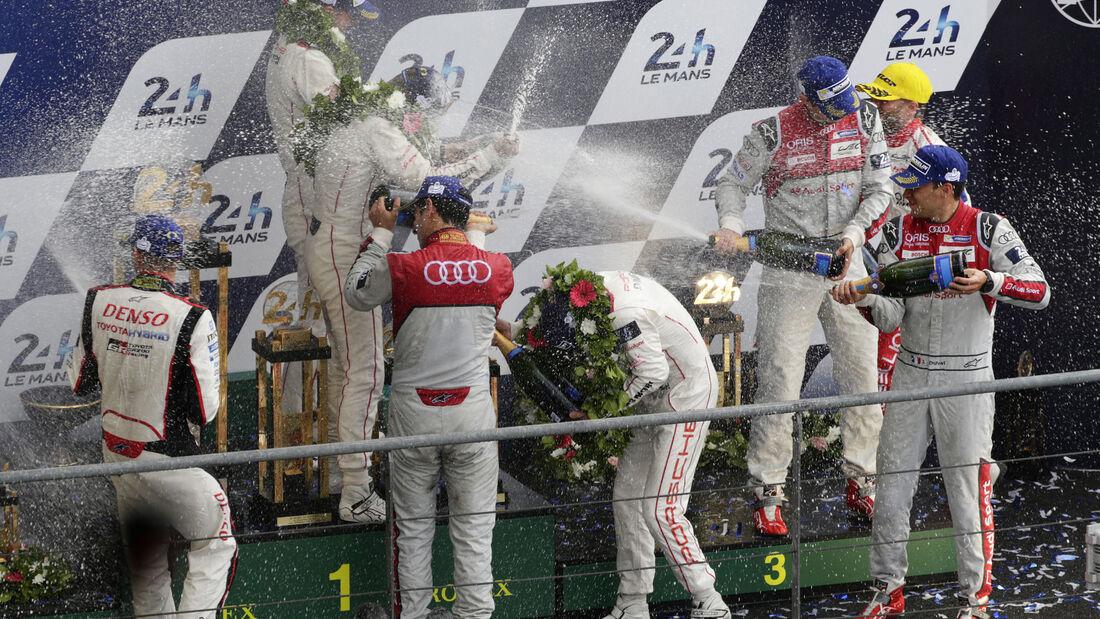 Siegerehrung - 24h Le Mans - Sonntag - 19.06.2016