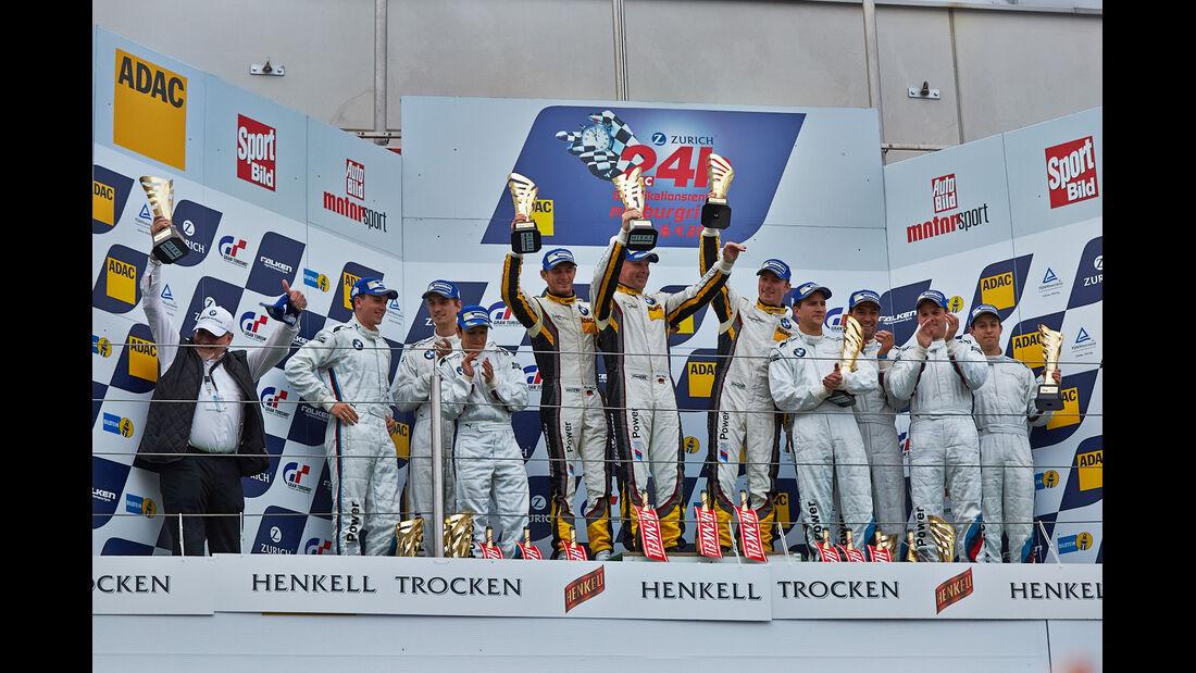 Siegerehrung - 24h Qualirennen - Nürburgring Nordschleife - 06. April 2014