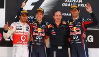 Siegerehrung - Formel 1 - GP Korea - 16. Oktober 2011