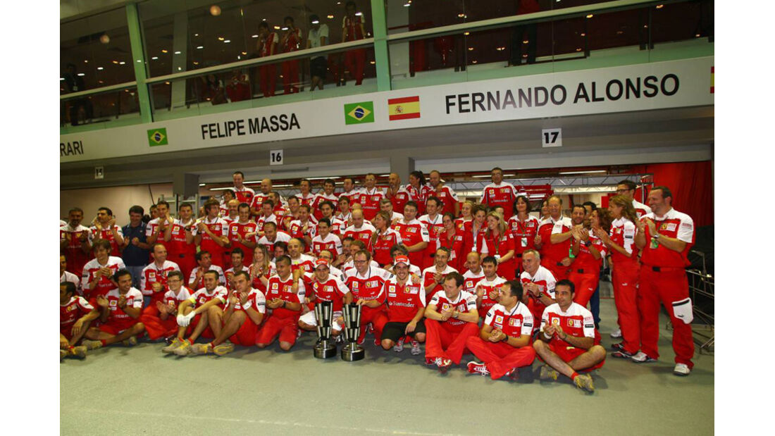 Siegerfoto Ferrari Singapur