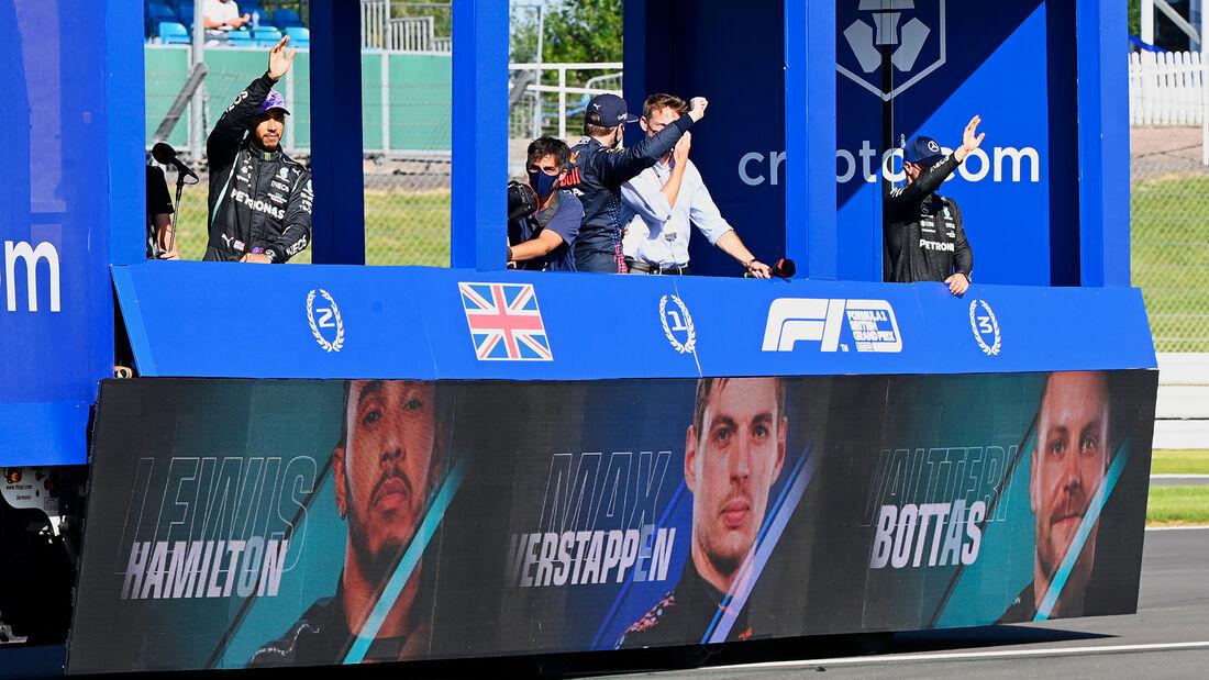 Siegerparade - Formel 1 - GP England - Silverstone - 17. Juli 2021