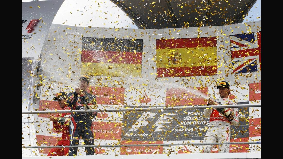 Siegerpodest - Formel 1 - GP Deutschland - 22. Juli 2012