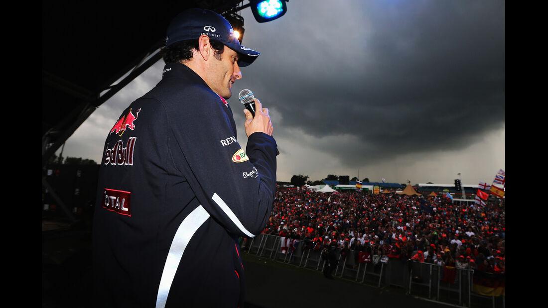 Silverstone Party Webber Formel 1 2012 GP England