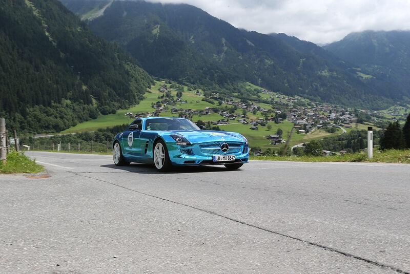 Silvretta Classic 2013, Tag 2, E-Auto Silvretta Hans-Dieter Seufert