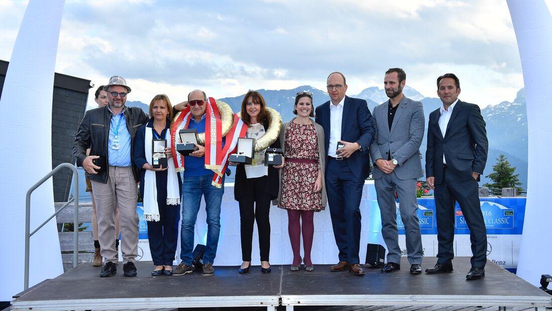 Silvretta Classic 2016, Siegerehrung Hochjoch