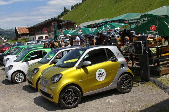 Silvretta Classic 2017, Mittagspause E-Auto
