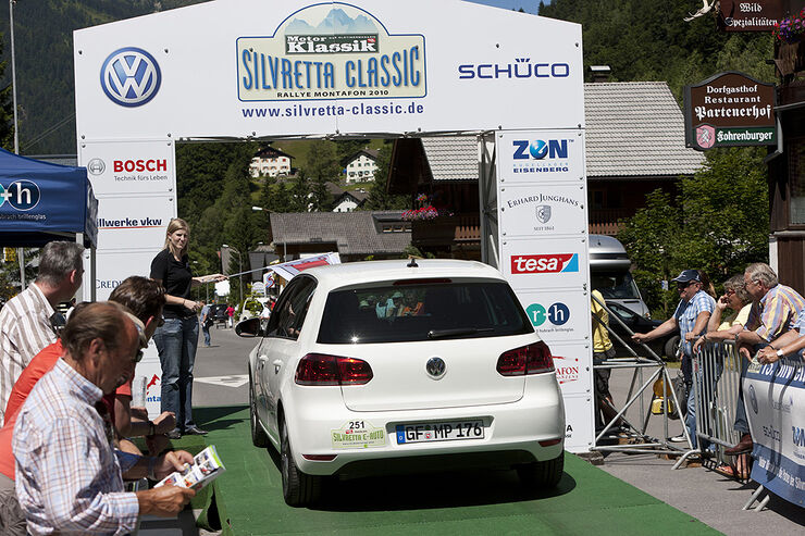 Silvretta E-Auto 2010, Elektroauto, E-Auto, E-Golf, Start