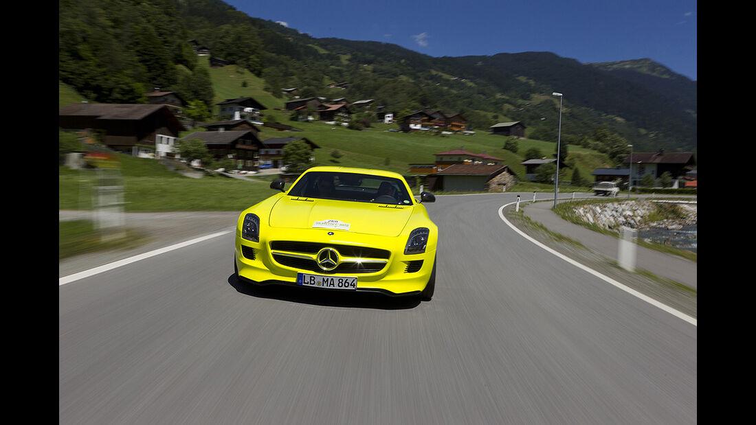 Silvretta E-Auto 2010, Elektroauto, E-Auto, Mercedes SLS AMG E-Cell