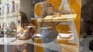 Silvretta E-Auto 2010, Elektroauto, E-Auto, Schaufensterpuppen, Dessous
