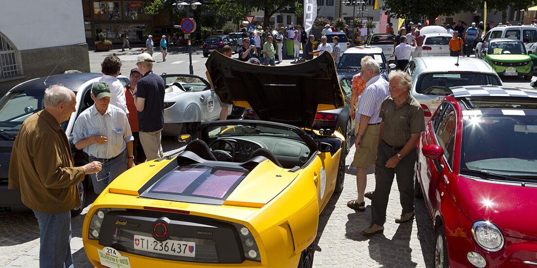 Silvretta E-Auto 2010, Elektroauto, E-Auto, Zuschauer