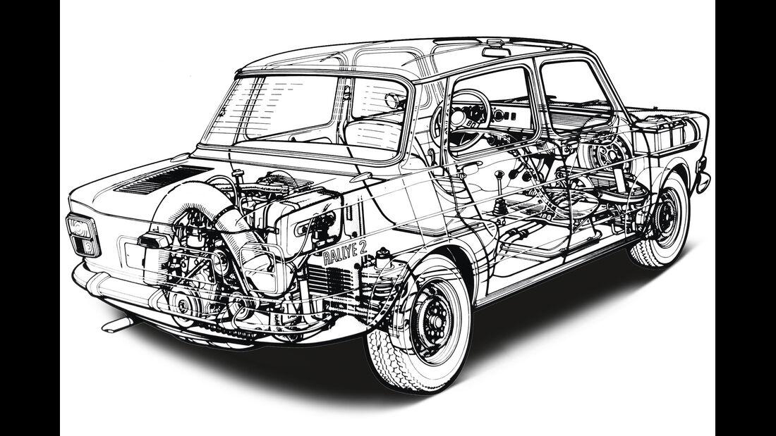 Simca 1000 Rallye 2, Grafik