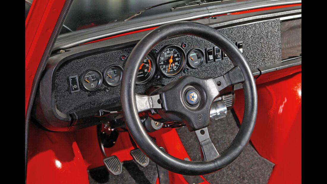 Simca 1000 Rallye 2, Lenkrad, Cockpit