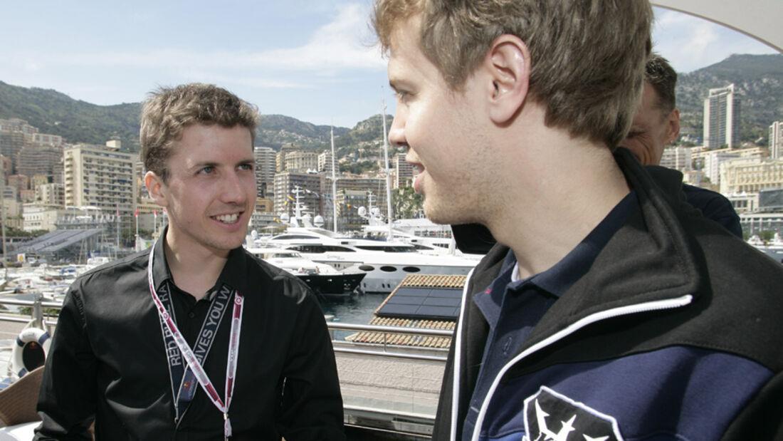 Simon Ammann und Sebastian Vettel
