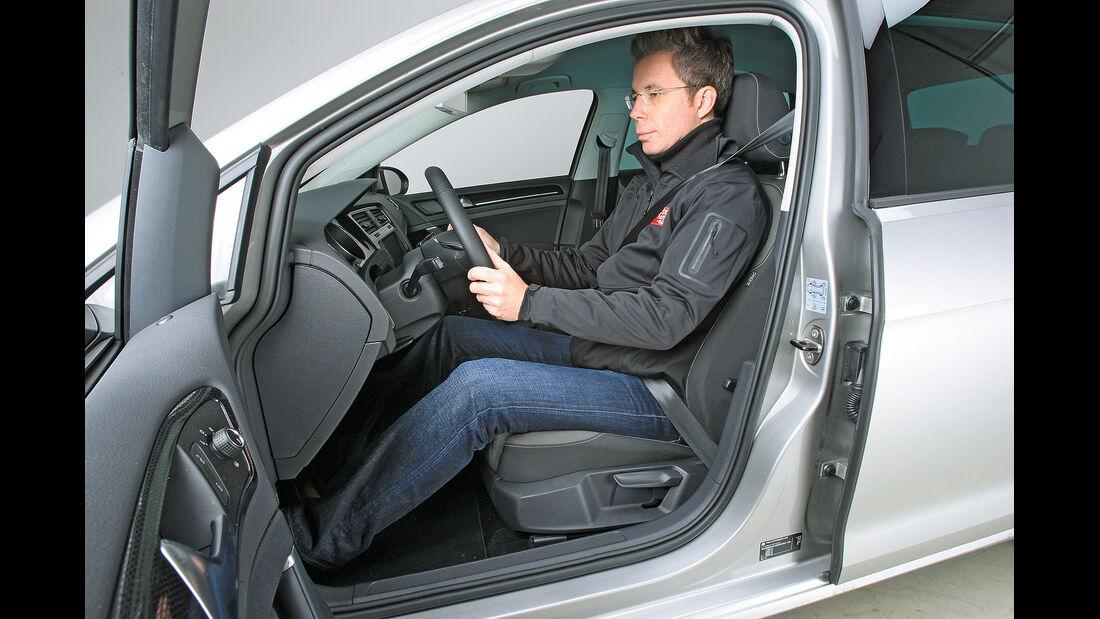 Sitztest, VW Golf