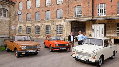 Skoda 105 L, Trabant 601 L, Wartburg 353 W, Frontansicht