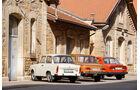 Skoda 105 L, Trabant 601 L, Wartburg 353 W, Heckansicht