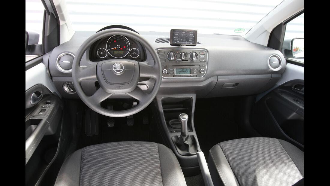 Skoda Citigo 1.0 Elegance, Cockpit, Lenkrad