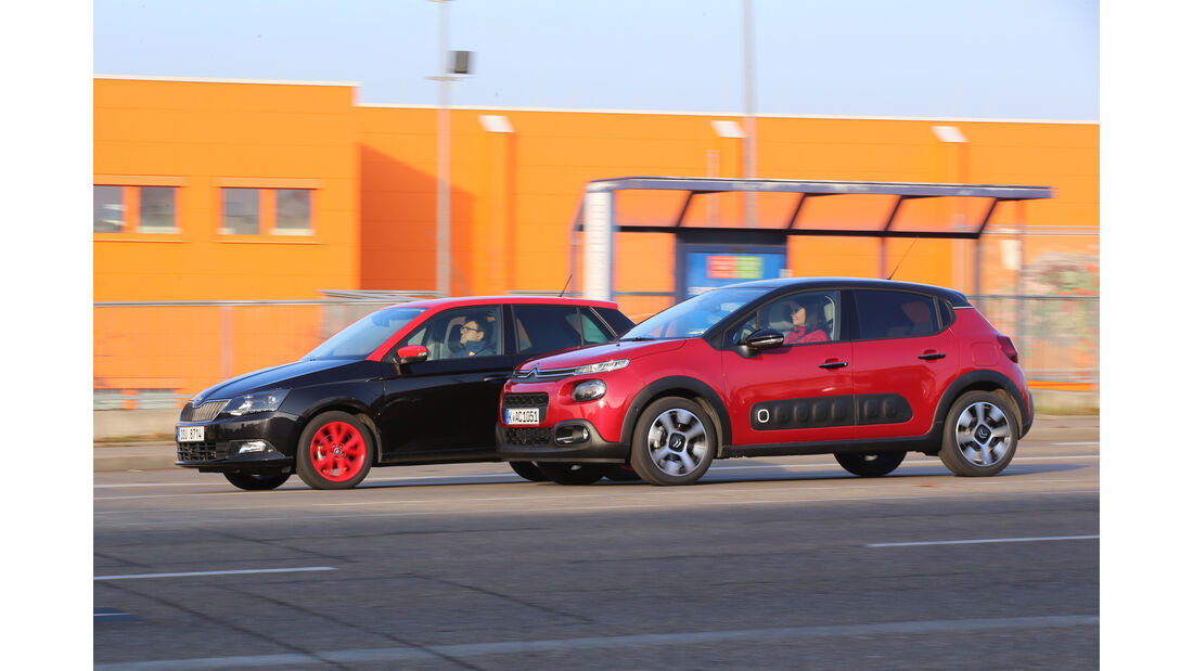 Skoda Fabia 1.4 TDI, Citroën C3 BlueHDi 100, Seitenansicht