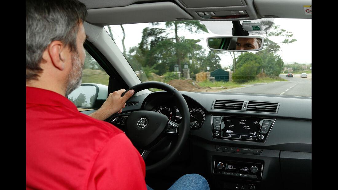 Skoda Fabia, Cockpit, Fahrersicht
