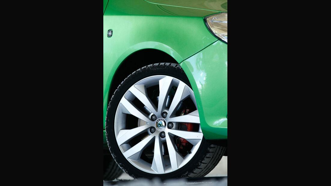 Skoda Fabia RS, Bremssättel, Räder