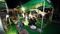 Skoda Fabia S 2000, Rallye DM, Servicezelt, Markus Stier