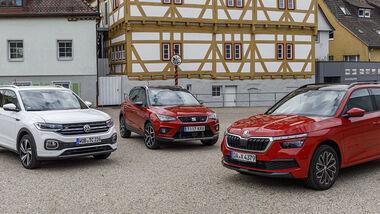 Skoda Kamiq 1.0 TSI, VW T-Cross 1.0 TSI, Seat Arona 1.0 TSI, Exterieur
