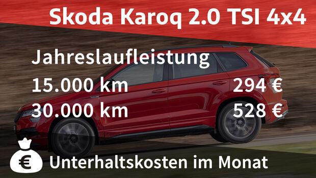 Skoda Karoq 2.0 TSI 4x4 Sportline Realverbrauch