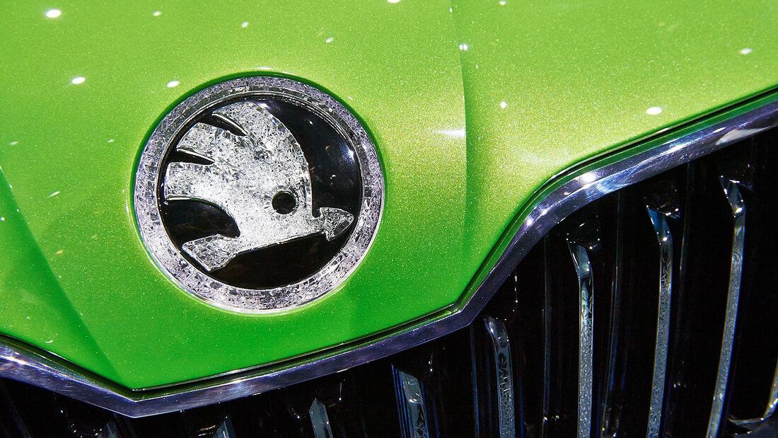Skoda Logo, Genfer Autosalon, Messe 2014