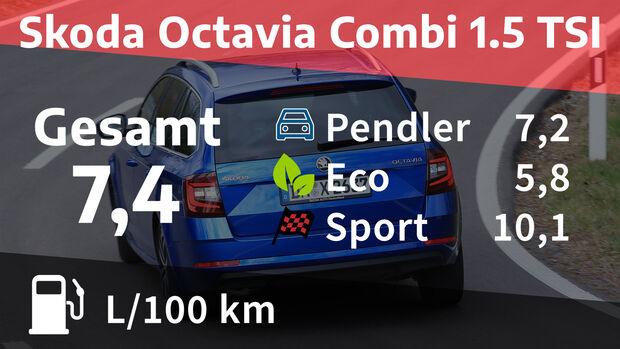 Skoda Octavia Combi 1.5 TSI Style Realverbrauch Verbrauch