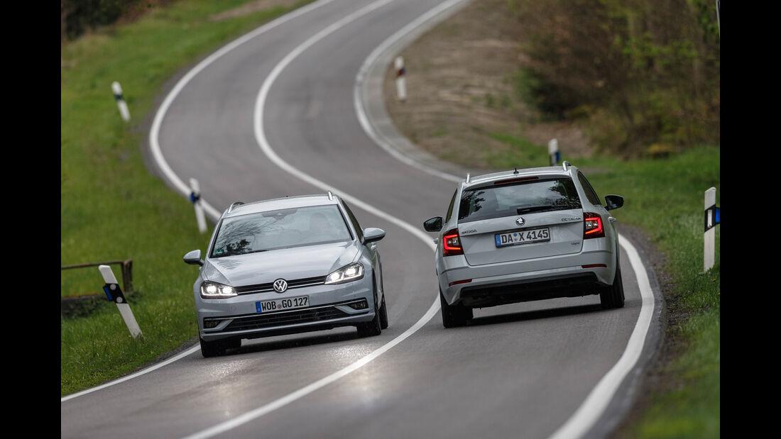 Skoda Octavia Combi 2.0 TDI 4x4, VW Golf Variant 2.0 TDI 4Motion