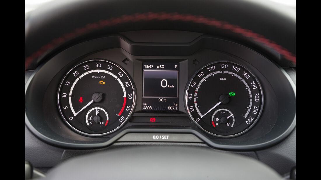 Skoda Octavia Combi RS 2.0 TDI 4x4, Rundinstrumente