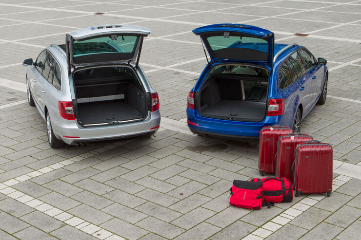 Skoda Octavia Combi Gegen Superb Combi Eine Generation Voraus Auto Motor Und Sport
