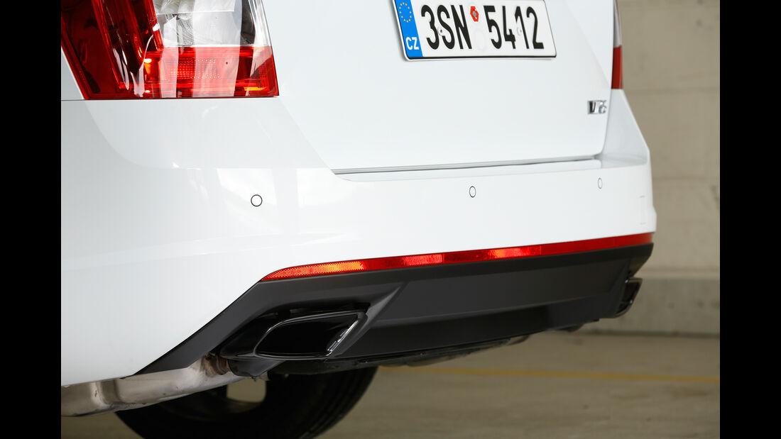Skoda Octavia RS 230 Combi, Auspuff, Endrohr