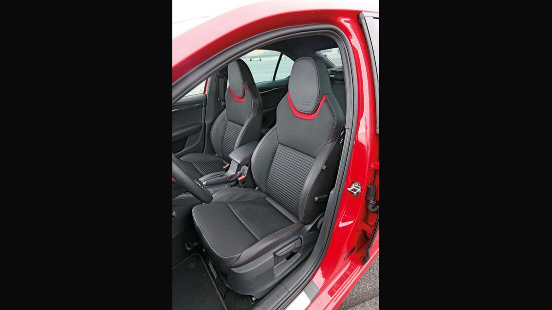 Skoda Octavia RS, Fahrersitz