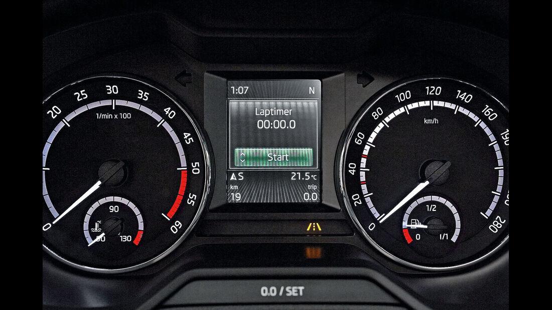 Skoda Octavia RS, Rundinstrumente
