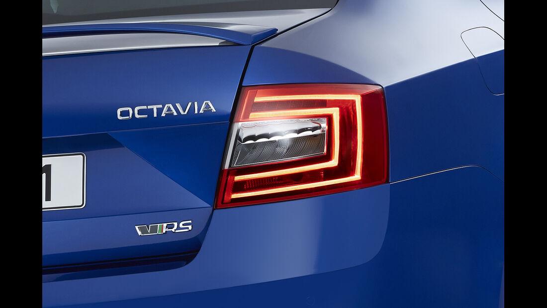 Skoda Octavia RS, Weltpremiere 2013, LED-Heckleuchten, Limousine