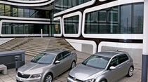 Skoda Octavia, VW Golf, Frontansicht