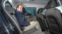 Skoda Rapid 1.2 TSI, Rücksitz, Beinfreiheit