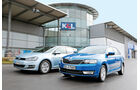 Skoda Rapid Spaceback 1.6 TDI Greentec, VW Golf 1.6 TDI BlueMotion, Front