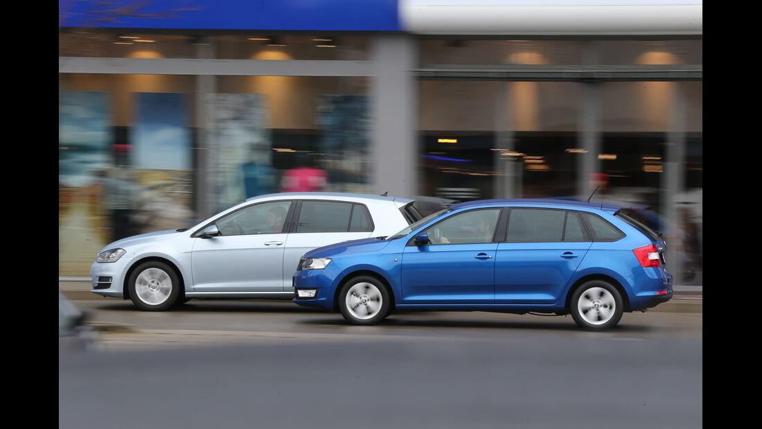 Skoda Rapid Spaceback 1.6 TDI Greentec, VW Golf 1.6 TDI BlueMotion, Seite