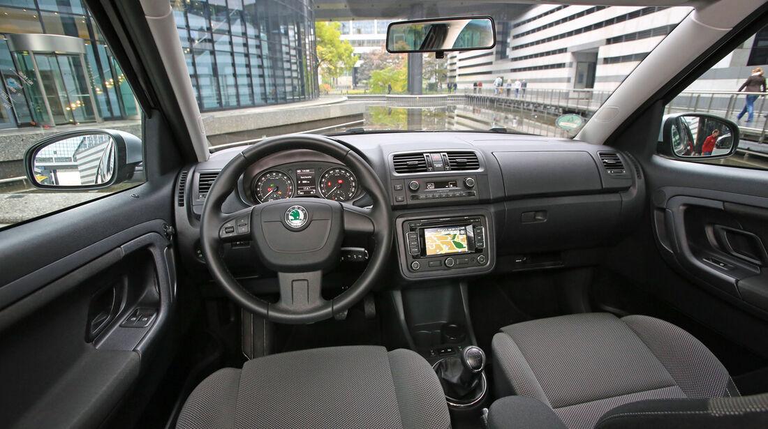 Skoda Roomster 1.6 TDI, Cockpit