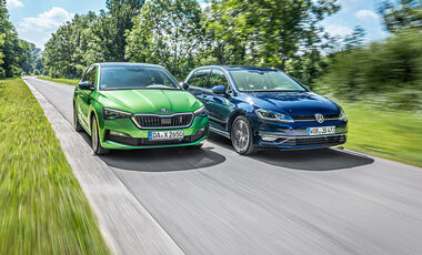 Skoda Scala 1.5 TSI, VW Golf 1.5 TSI, Exterieur