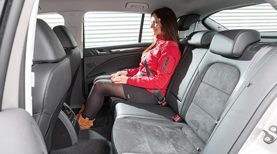 Skoda Superb 1.4 TSI, Rücksitz, Beinfreiheit