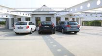 Skoda Superb Combi 1.6 TDI GreenLine, VW Passat Variant BlueMotion, Volvo V60 Drive Summum, Heck