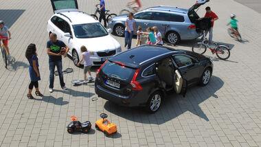 Skoda Superb Combi 1.6 TDI GreenLine, VW Passat Variant BlueMotion, Volvo V60 Drive Summum, Heckklappe