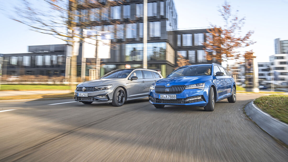 Skoda Superb Combi 2.0 TSI 4x4, VW Passat Variant 2.0 TSI 4Motion, Exterieur